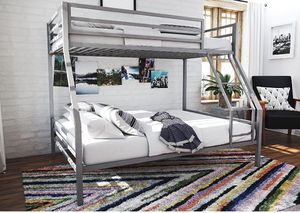 Novogratz Maxwell Twin/Full Metal Bunk Bed, Sturdy Metal Frame with Ladder and Safety Rails for Sale in University Place, WA