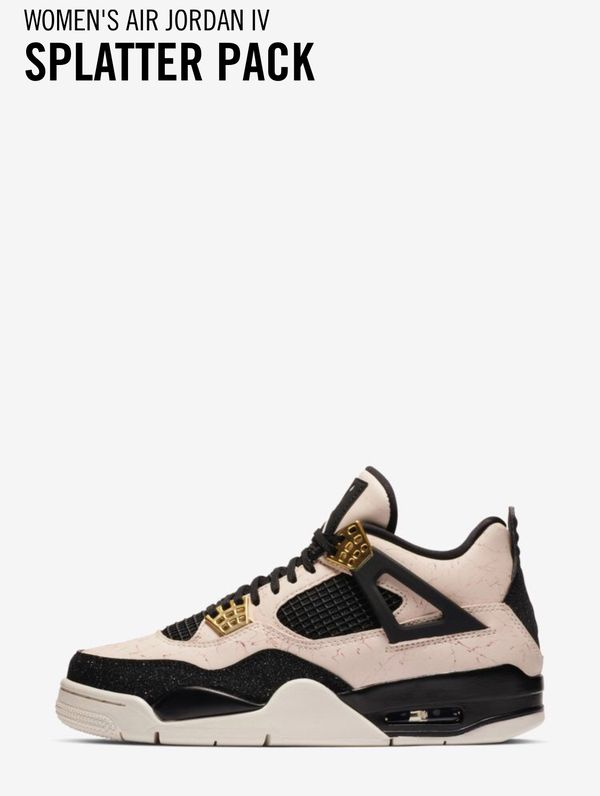Women's Air Jordan 4 Retro Splatter Pack Sz: 9W