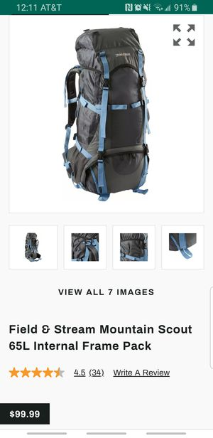 Hiking Backpack, 65L for Sale in Lincoln Park, MI
