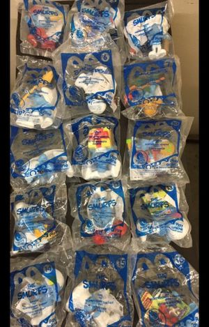 2011 McDonald's Smurf toys 1-16 (missing #2) for Sale in Puyallup, WA