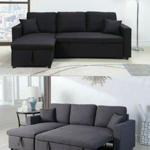 Reversible Sectional Sofa Pullout Bed With Storage Chaise for Sale in South Gate, CA
