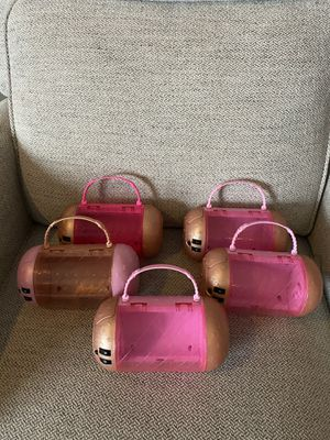 Lot of 5 LOL Surprise doll cases combination compartments secret code for Sale in West Sacramento, CA