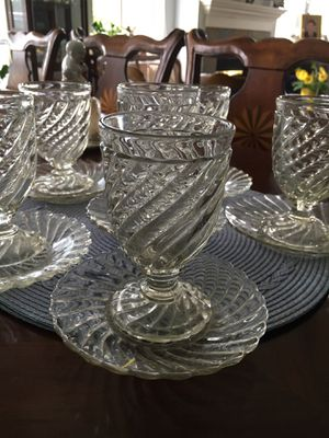 Antique Persian wine/dessert glasses with saucers for Sale in Tacoma, WA