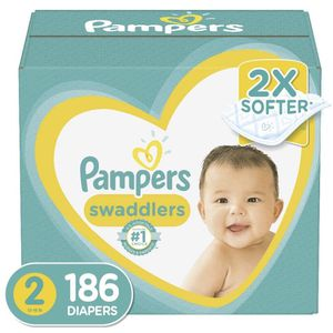 Pampers Swaddlers size 2 diapers- pañales for Sale in Downey, CA