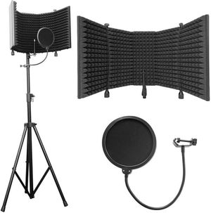 """(New) Axcessables Sf-101kit Recording Studio Microphone Isolation Shield With Tripod Stand - 4ft To 6ft 6"""" Height Adjustable Stand for Sale in Tempe, AZ"""