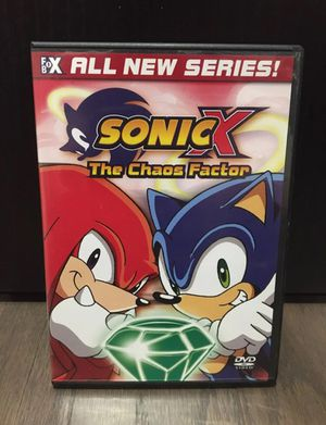 Sonic X The Chaos Factor DVD With Case for Sale in Winter Garden, FL