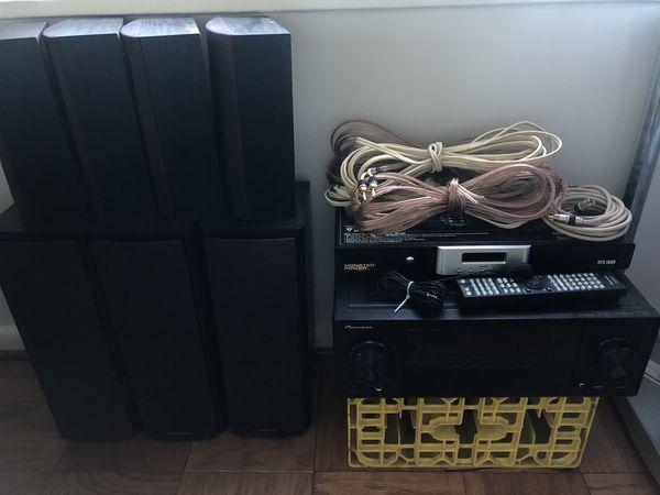 Pioneer Stereo with Onkyo 8-Speaker Surround