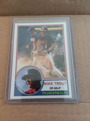 Baseball card! Mike Trout! for Sale in Wasco, CA