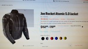 Joe Rocket Atomic 5.0 jacket 3xl for Sale in Kathleen, GA