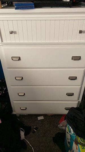 All white dresser for Sale in Lynbrook, NY