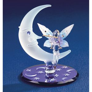 Fairy on Moon glass sculpture figurine for Sale in St. Petersburg, FL