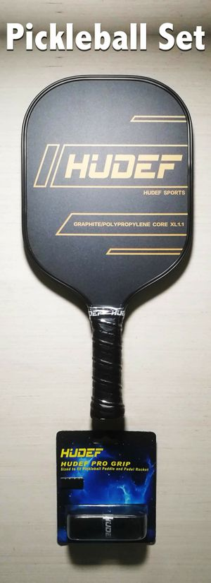 BRAND NEW USAPA Approved HUDEF Pickleball Paddle + Pro Grip Composite Fiber Face Polypropylene Honeycomb Core Raqueta Paleta de Pickle-ball Racquet for Sale in Rancho Cucamonga, CA