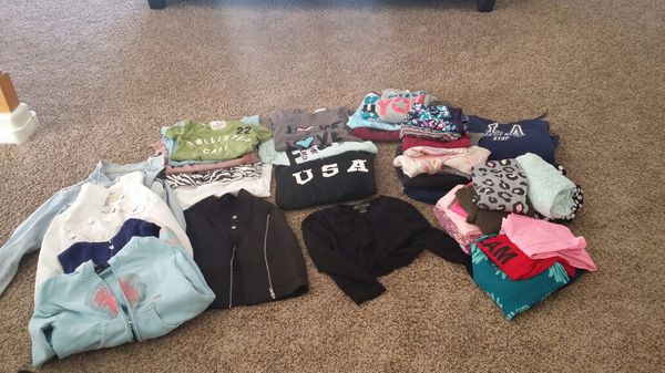 Girls clothing. Justice! Kohl's, JC Penney's, dance wear, Jackets' Hoodies and more!!! This is just a few. I have a bag full for you...