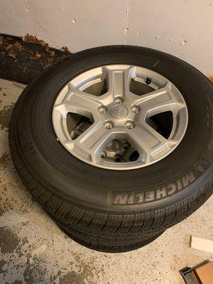 JL jeep wrangler wheels and tires for Sale in Grafton, MA
