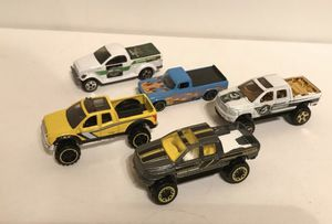 Hot Wheels 1/64 Dodge Ram 1500, Toyota Tundra, Dodge Power wagon, Lot Of 5 Cars for Sale for sale  Kenmore, WA