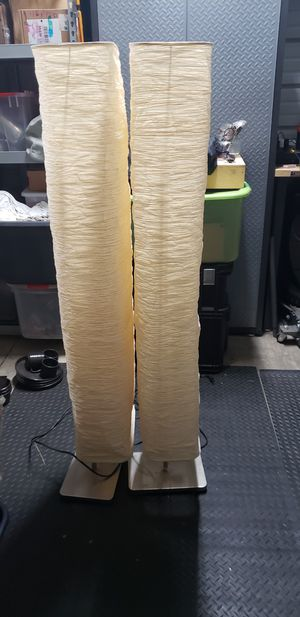 Ikea lantern lamps 5 foot pair for Sale in Castro Valley, CA