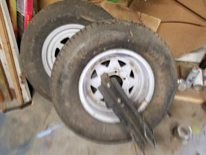 2 New Tires for Trailer Only with mounting brackets! for Sale in Virginia Beach, VA