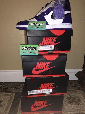 """Air Jordan 1 """"court purples 2.0"""" for Sale in Los Angeles, CA"""