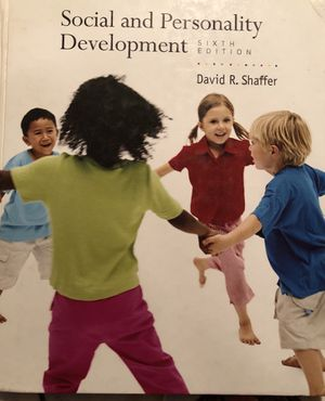 Social and Personality Development College CSUSB Textbook for Sale in Nuevo, CA