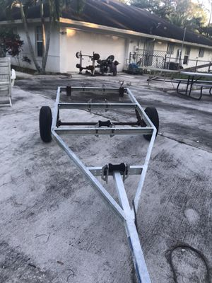 I have 3 different galvanized boat trailers for $500. Each for boats 20ft or less for Sale in Loxahatchee, FL