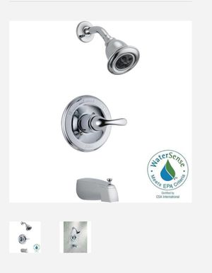 Delta Classic 1-Handle Thermostatic Tub and Shower Faucet Trim Kit in Chrome (Valve Not Included) for Sale in Dallas, TX