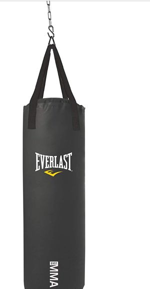 Everlasting 70 pound heavy punching bag and hanger for Sale in Lexington, MA