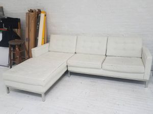 White leather modular couch for Sale in Brooklyn, NY