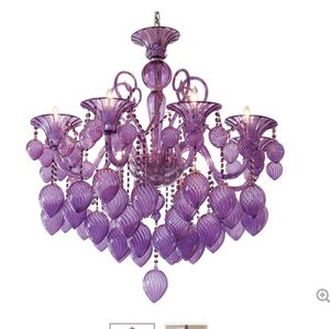 Chandelier-Murano purple glass for Sale in Paradise Valley, AZ