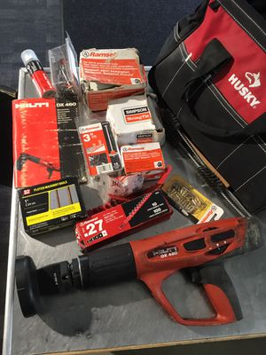 Hilti DX460 Nail Gun w/ bag, misc. nails, cleaning brushes, lubricant, protective cap and manual for Sale in San Diego, CA