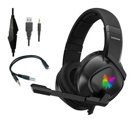 ONIKUMA K19 Bass Surround LED Gaming Headset Headphones with Microphone for Sale in San Gabriel,  CA