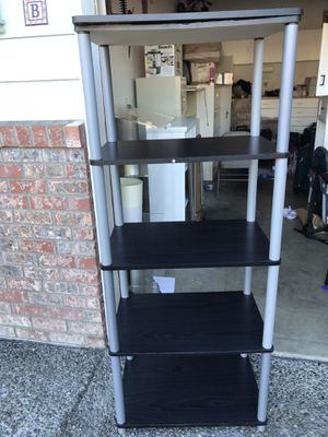 Wooden 5 shelve in Black n Gray for Sale in Kirkland, WA