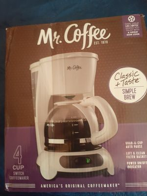 Mr Coffee 4 cup coffee maker for Sale in El Paso, TX
