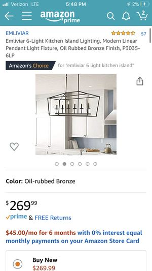 Kitchen island lighting for Sale in Bakersfield, CA