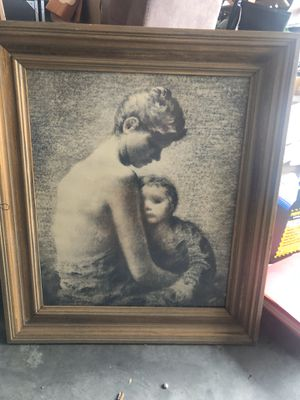 Mother and child vintage print for Sale in East Wenatchee, WA