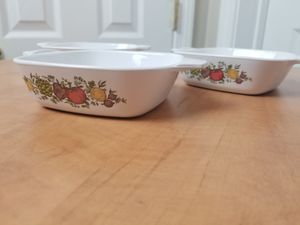 "Vintage set of 3 Corningware ""Spice of Life"" petite casseroles for Sale in Tiverton, RI"