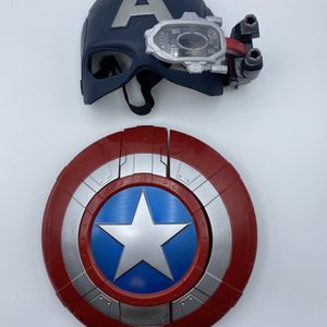 Captain America Lot Shield Dart Gun Marvel Blaster Civil War Scope Vision Helmet for Sale in Charlotte, NC