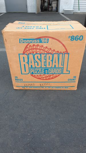 Open 1986 DONRUSS WAX CASE for Sale in Garden Grove, CA