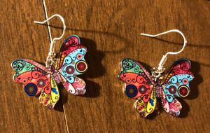Colorful Butterfly Metal Earrings for Sale in Baltimore, MD