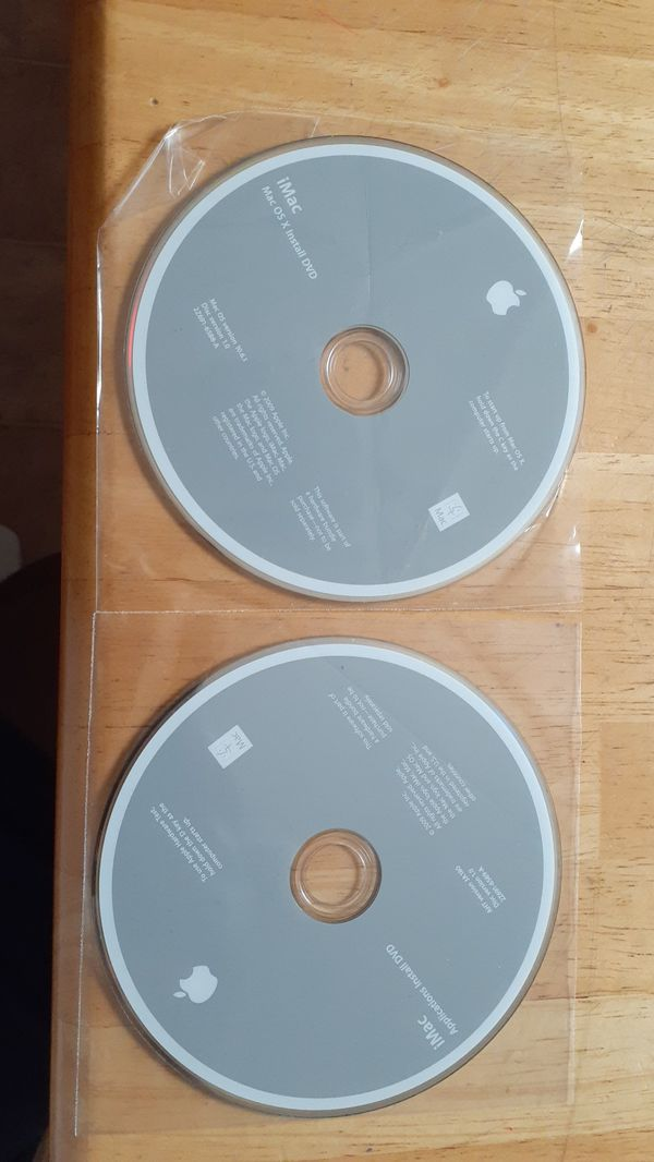 Mac OS version 10.6.1 install discs