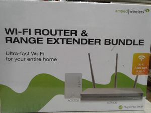 AMPED WIRELESS ULTRA FAST WI-FI ROUTER AND EXTENDEDR BOUNDLE NEW ☆ for Sale in Los Angeles, CA
