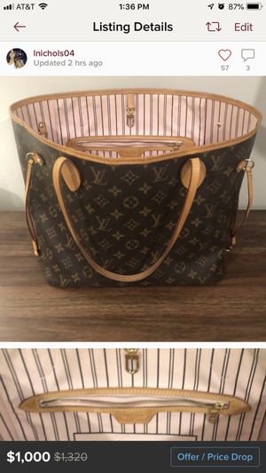 Authentic Louis Vuitton Neverfull MM for Sale in Hoffman Estates, IL
