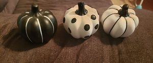 3 piece glass pumpkin set for Sale in Crowley, LA