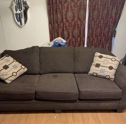 Brown Sofa with Accent Pillows for Sale in Fresno,  CA
