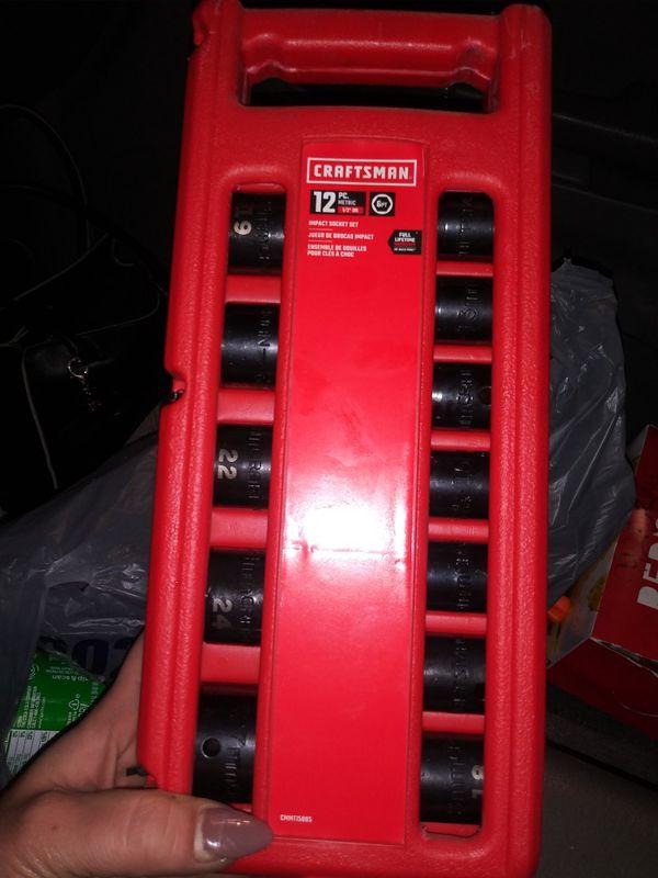 "Craftsman 1/2"" socket set"