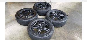 Subaru Impreza WRX wheels black with all season tires for Sale in Gresham, OR