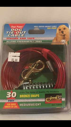 Four Paws dog tie-out cable 30 feet long for Sale in Manassas, VA