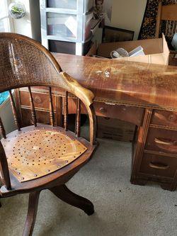 Vintage Desk + Chair for Sale in Gresham,  OR