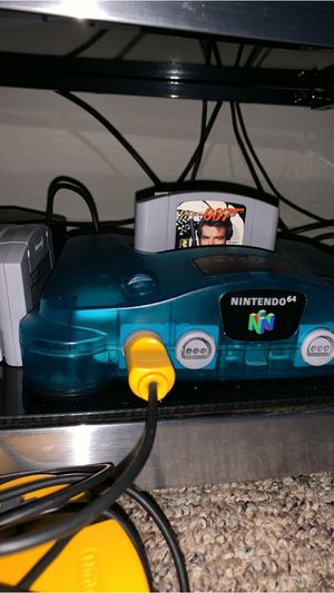 Ice Blue Nintendo 64 with games for Sale in Alafaya, FL