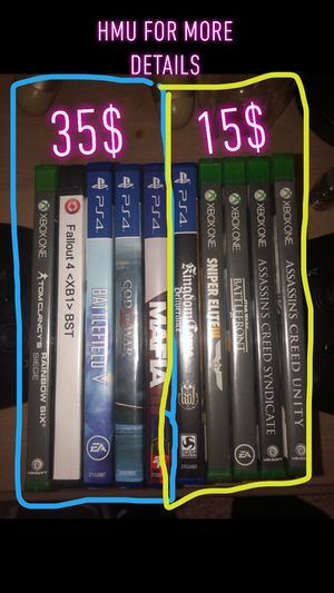 PS4, Xbox one game 35$-15$ for Sale in Rochester, MN