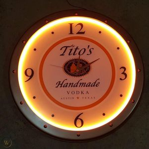 Tito's Wooden Huge (2 feet) Wall Clock for Mancave Bar for Sale in Las Vegas, NV